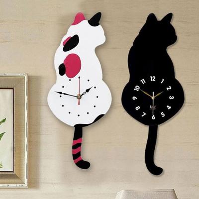 모든곳에 잘 어울리는 고양이 무소음벽시계