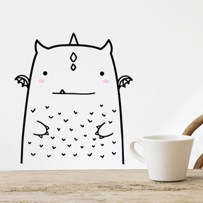 허전한 공간을 감성있게 귀여운동물 인테리어 스티커