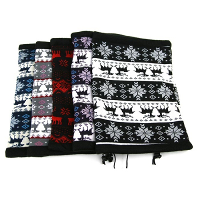 남여공용 포근한 기모 꽃사슴 넥워머 겨울 방한용품