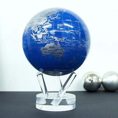 빛만 있으면 OK 자가회전구 Blue Silver 지구본 114mm