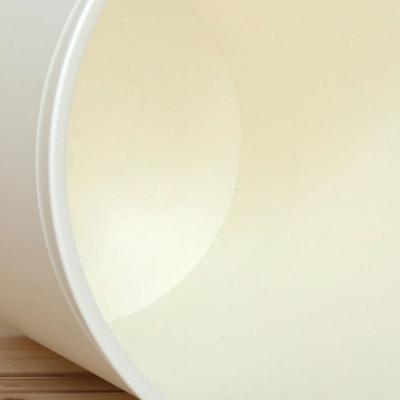Modern 크림 오픈 휴지통 5.5리터 높이24.5cm