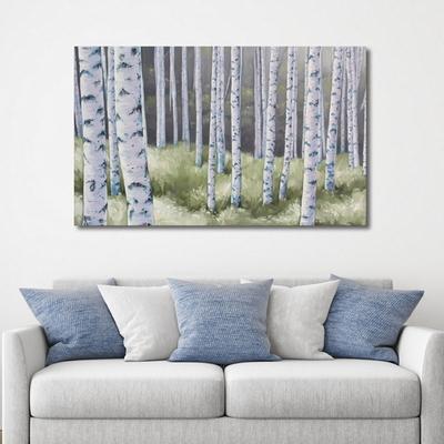 축복의 자작나무 풍수지리 인테리어 캔버스 그림액자