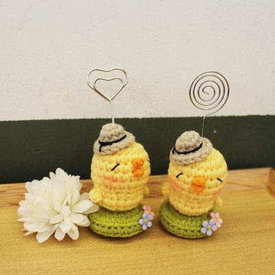 손뜨개인형 명함꽂이 - 피크닉병아리