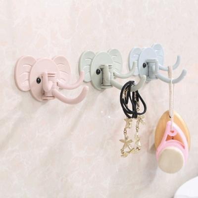 (다용도) 열쇠고리 코끼리 후크걸이-3컬러