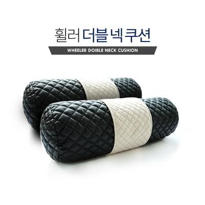 VIP 더블 넥쿠션 차량용 와이드 목쿠션 2개 1세트 1+1