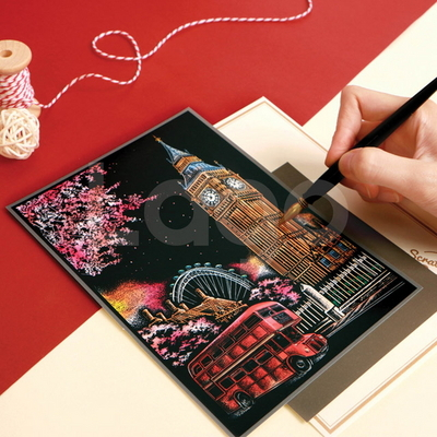체리블라썸 스크래치 나이트뷰 엽서_Cherry blossom Scratch Postcard