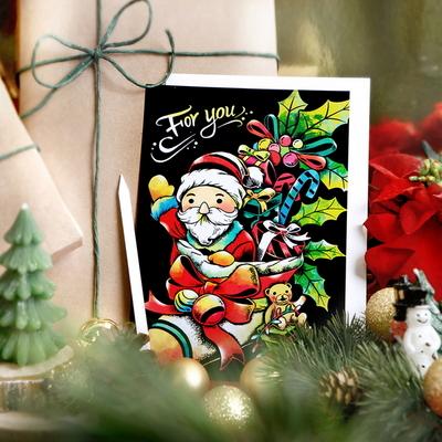 크리스마스 스크래치 나이트뷰 엽서_Christmas Scratch Postcard