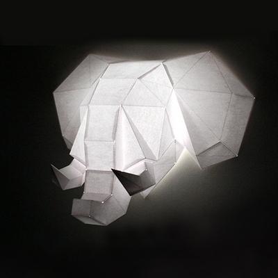 데코폴리 코끼리 페이퍼헌팅트로피 인테리어소품
