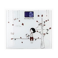 사각 디자인 백라이트 체중계 스모키화이트+ AAA밧데리 포함