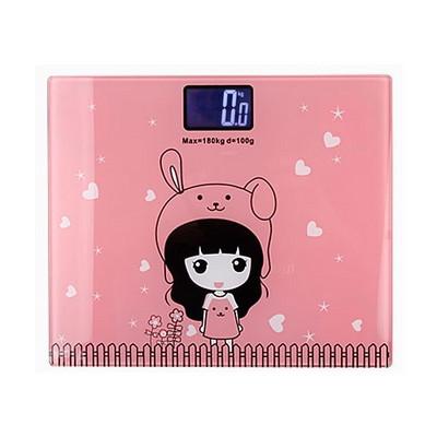 사각 디자인 백라이트 체중계 팬시핑크+ AAA밧데리 포함