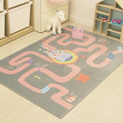 핑크캐슬 아이방 러그 - 프리미엄 극세사(150x100cm)