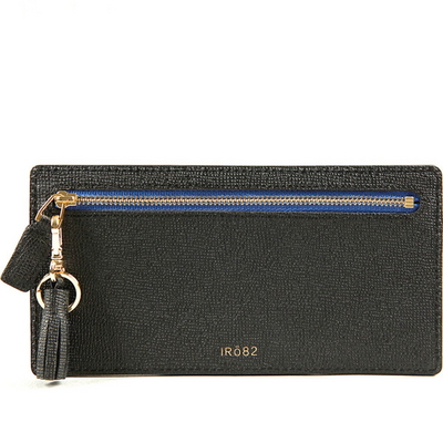 Tassel Grain Leather Wallet - Blue