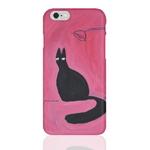 (Phone Case) Black cat on the dest