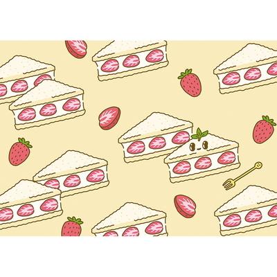 눈뉴 레스토랑 딸기샌드위치- 일러스트 액자