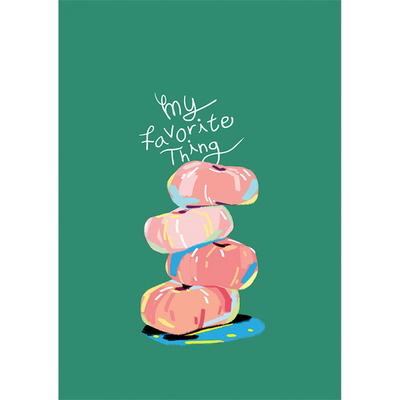 My favorite thing_Donut peach- 일러스트 액자