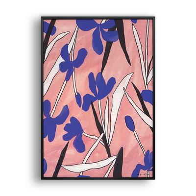 붓꽃 패턴 Pink- 일러스트 액자