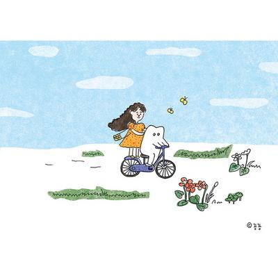 자전거- 일러스트 액자