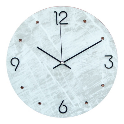 그레이마블 크룩 큐빅 무소음 인테리어벽시계