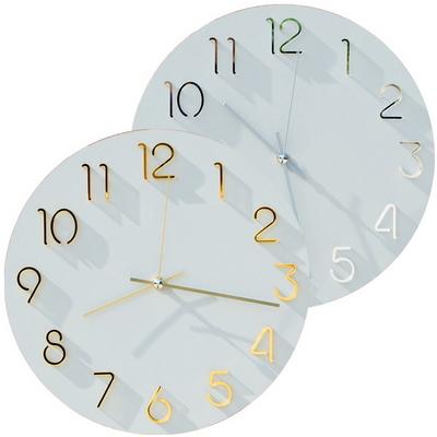 웜그레이루버 크룩넘버 무소음 인테리어벽시계