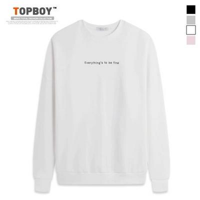 루즈핏 기모 가오리 맨투맨 티셔츠 (TR717)