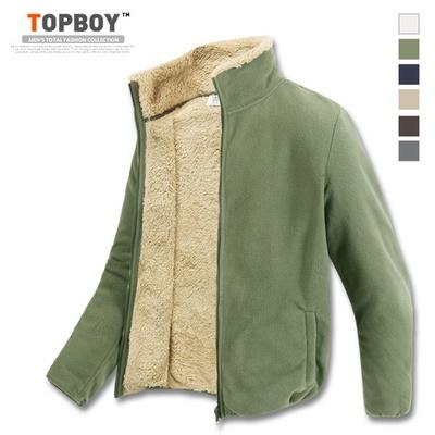 [탑보이] 따뜻한 인조양털 후리스집업 (TC009)