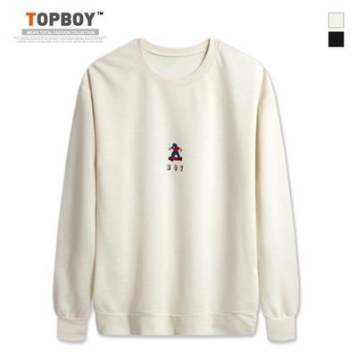 보이 프린팅 라운드 맨투맨 티셔츠 (CR123)