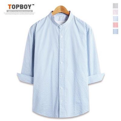 스트라이프 차이나 7부셔츠 (DL499)