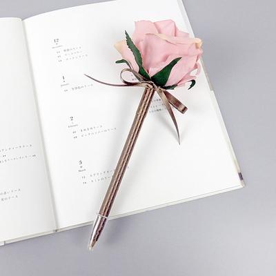 핑크 장미조화볼펜