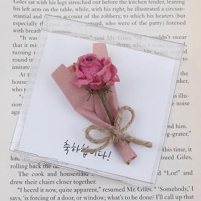 미니 장미 드라이플라워카드