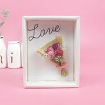 핑크꽃다발 드라이플라워 카드