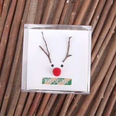 루돌프 크리스마스 카드-나뭇가지