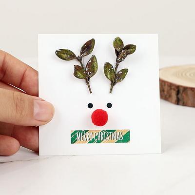 루돌프 크리스마스 카드-회양목