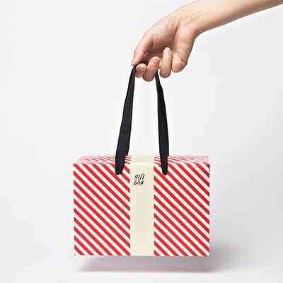 PLUSBOX GIFT BAG (Red stripes-Small)