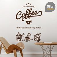 커피 한잔 어때요 카페 인테리어 데코스티커