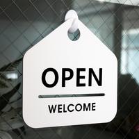 잠깐 안내 표지판 01 OPEN WELCOME 오픈클로즈