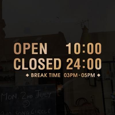오픈클로즈 32 금빛 환영합니다 영업시간 스티커