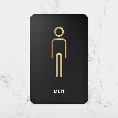 루리앤메리 블랙골드 사인보드 02 남자 화장실 안내판