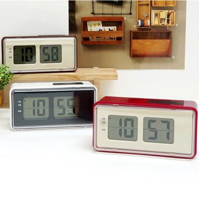 플립스타일 LCD 디지털 탁상시계 인테리어