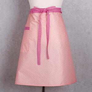 핑크 스트라이프 방수 허리 앞치마
