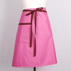 핑크 방수 허리 앞치마