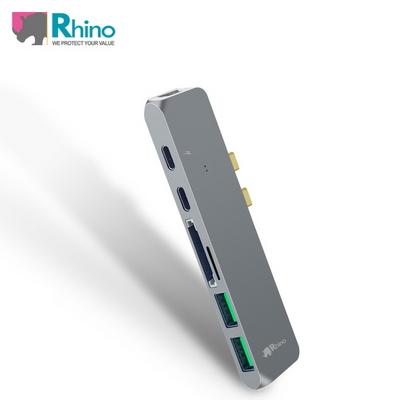 (라이노) USB 타입 C 올인원 허브 7 in 1_맥북프로 뉴맥북에어