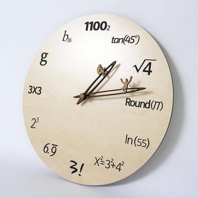 수학공식 우드벽시계(무소음)