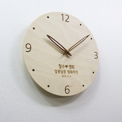 무소음 우드벽시계 - 도트(DOT)