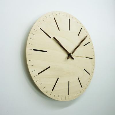 무소음 우드벽시계-볼드라인(라운드)