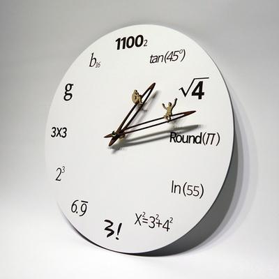 무소음 벽시계 에코화이트 (수학공식시계)