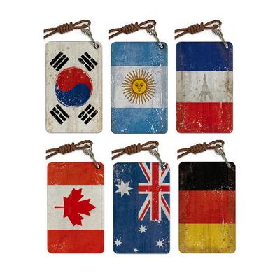 수제 카드넥홀더_Grunge Flags 국기 (11 color)