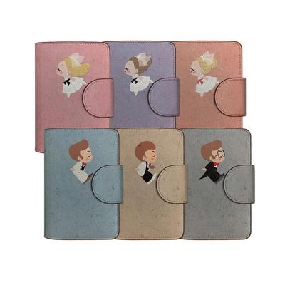 쪼꼬미 신랑신부 이니셜  둥근고리 가죽여권지갑 (6color)