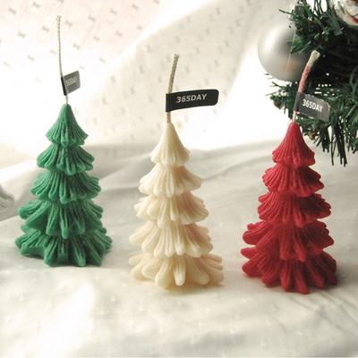 메리 크리스마스 트리 캔들