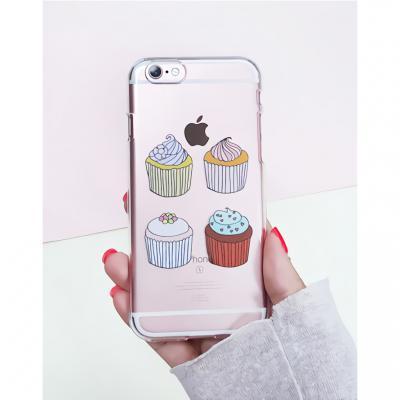 아이폰6플러스/6S플러스 투명 컵케익(젤리 케이스)
