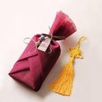 전통 삼베 포장천 (자주색)